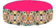 Temple Cat Round Pet Bean Bag Cover in Pink Colour by Orka