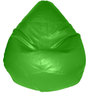 Teardrop Bean Bag (With Beans) in Green Colour by Feel Good