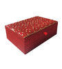 The Decor Mart Beaded Fabric Red Jewellery Box