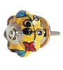 The Decor Mart Multicolour Ceramic Knob - Set Of 4