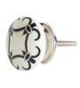 The Decor Mart White And Black Ceramic Knob - Set Of 4
