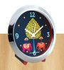 The Elephant Company Multicolour Glass & Plastic 5 x 2 x 4 Inch Elephant Carnival Motif Chrome Alarm Clock