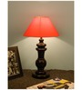 The Lamp Store Orange Poly Cotton Table Lamp