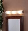 The Light Store White Glass Mirror Light