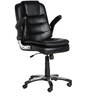 The Mediano Executive Medium Back Chair in Black color by VJ Interior