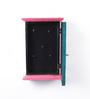 The Mikky Shoppe Station Blue & Pink Mango Wood & MDF Key Box