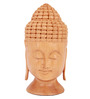 The Nodding Head Brown Wood Peaceful Buddha Showpiece