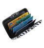 The Quirk Box Zebra Print Plastic Credit Card Holder
