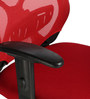 The Sangre Ergonomic Medium Back Chair in Red color by VJ Interior