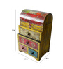 The Shopy Multicolour MDF Vintage Table Top Collectible with 4 Drawers