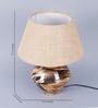 Tisha Table Lamp in Brown by Bohemiana