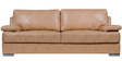Toby Three Seater Leatherette Sofa in Beige Colour by Home City