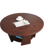 Transitional Coffee Table with Storage Shelf in Brown Color by Afydecor
