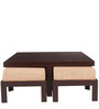 Trendy Coffee Table Set with Four Stools in Red Check Colour by ARRA