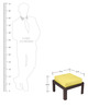 Trendy Coffee Table Set with Four Stools in Yellow Colour by ARRA