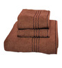 Trident Brown Cotton Towel - Set of 3
