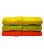 Trident Yellow, Green & Orange Cotton Hand Towel - Set of 6
