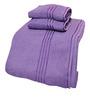 Trident Orchid Bloom Purple Cotton Towel - Set of 3