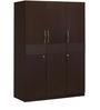 Triumph Three Door Wardrobe in Dark Walnut Colour by @home