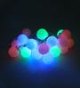 Tu Casa Fluorescent Multicolour Downward Ball String Light