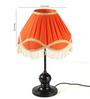 Tu Casa Orange Poly Cotton Frill Lamp Shade