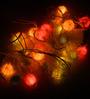 Tu Casa Silky Hairy Multicolour Downward Ball-shaped String Light