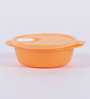 Tupperware Crsytal Wave Orange Plastic 600ml Airtight Container Set of 3