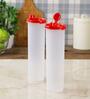 Tupperware Mega Magic Red Plastic 1.1 L Oil Dispenser with Lid - Set of 2