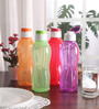 Tupperware Multicolour Plastic 1 L Fliptop Bottle - Set of 4