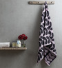 Turkish Bath Purple & Grey Cotton 30 x 58 Bath Towel