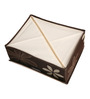 UberLyfe Brown Polyester and Cardboard  12 Cell Divider Storage Box with Lid