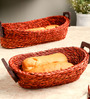 Unravel India Sabai Grass Basket Tray - Set of 2