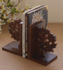 Unravel India Sheesham Wood Brown Tree of Life Book End