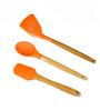 Utopian Orange Silicone Spatula - Set of 3
