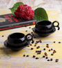 VarEesha Black Ceramic 100 ML 12-piece Cup and Saucer Set