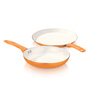 Vinod Cookware Ceramic 2.8L Zest Superb Plus Tawa with Fry Pan