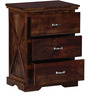 Volga Bed Side Table in Provincial Teak Finish by Woodsworth