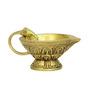 Vyom Shop Yellow Brass Medium Divi Diya