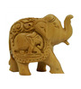 Vyom Shop Wooden 4.5 x 2 x 3 Inch Elephant Up Trunk Showpiece