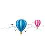 Wall Inc Vibrant Hot Air Balloon Ride Wall Decal