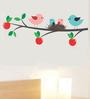 WallTola PVC Vinyl Apple Branch Birds Nest Wall Sticker