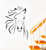 WallTola PVC Vinyl Horse Sketch Wall Sticker