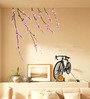 WallTola PVC Vinyl Nature Cycle with Pink Blossoms Wall Sticker