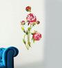 WallTola PVC Vinyl Peony Flowers Wall Sticker