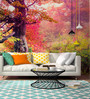 Wallskin Pink Non Woven Paper Forest Wallpaper