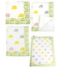 Cocobee White Rickshaw Print Baby Quilt in White Colour