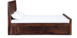 Woodway King Bed with Storage in Provincial Teak Finish by Woodsworth