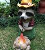 Wonderland Racoon with Bonfire Solar Light