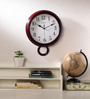 Wood Craft Brown Glass & MDF 11.8 x 1.5 x 14.6 Inch Wall Clock