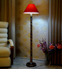 Woody Lamp House Red Poly Cotton Floor Lamp